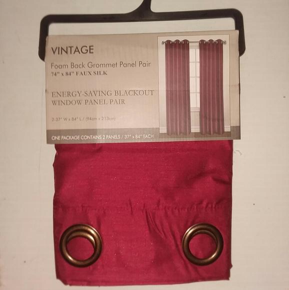 Vintage Grommet Window Panel Pair NWT